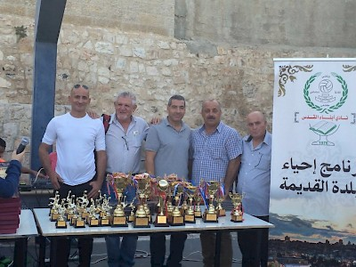 Jerusalem, Israel - After a sports event at the award ceremony for children in the Abna Al Quds Club.