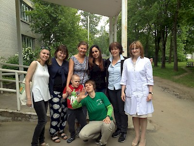 St. Petersburg, Russia - Caring for disabled children.The teams of Perspektivy and The DEAR Foundation.