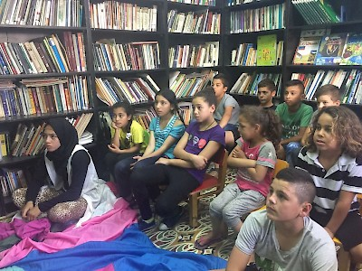 East-Jerusalem - Education for children in a library in Silwan.