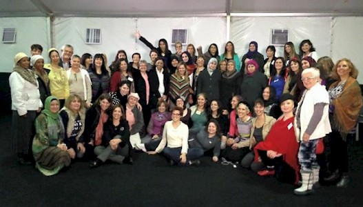 Dead Sea, January 2014 - Retreat for brave Muslim, Jewish and Christian Women affected by Breast Cancer.