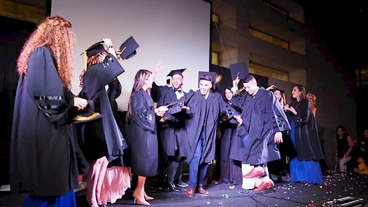Jerusalem, May 2016 - Graduation Ceremony of Palestinian Students at the Hand-in-Hand School