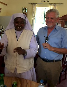Tanzania - Stefan Rothschild, Programme Manager for Africa, with Sister Mosha