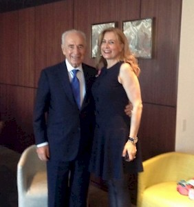 Jerusalem - Shimon Peres, late President of Israel, with Sonja Dinner