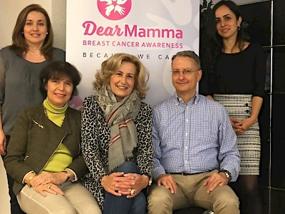 Switzerland - The DEAR Foundation working on the project of Dear Mamma, Breast Cancer Awarness Campaign worldwide